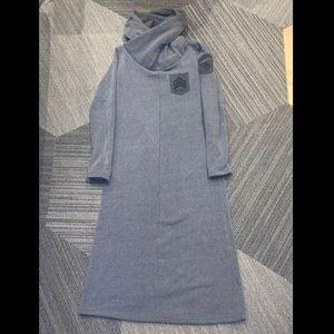 Avirex hoodie cowl neck long dress M
